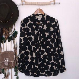 Anne Klein black/tan tunic size M